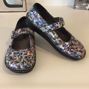 Alegria patterned Mary Janes, Size 36 or 6/6.5